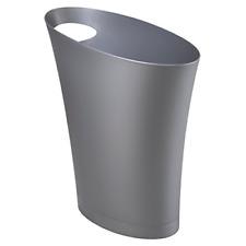 Skinny Sleek & Stylish Bathroom Trash Small Garbage Can Wastebasket Narrow Sp.