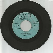 "Detroit Blues Calvin Frazier ""Have Blues Must Travel/Lilly Mae"" J-V-B 86 G+ 1958"