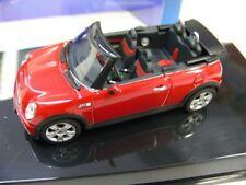 1/43 Autoart mini cooper s cabrio (rojo)