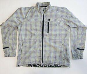 Cannondale Men's 2XL Gray Green Full Zipper Magnetic Back Cycling Bike Jacket
