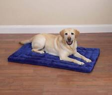 Dog Crate Mat Bed Grey or Blue Warm Plush Soft Dogs Kennel Beds - Choose Size