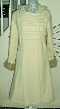 Vintage Retro Firetrap Wool Blend Long Hooded Princess Coat Size S