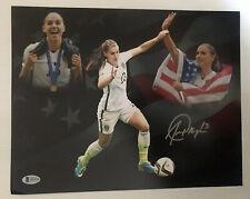 Alex Morgan Signed Autographed 11x14 Photo USWNT Soccer Team BECKETT COA