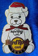 RARE TOKYO PROTOTYPE WHITE SANTA RED HAT XMAS POLAR BEAR Hard Rock Cafe PIN LE1