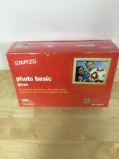 Staples Photo Basic Gloss Paper 4x6 Pack of 200 Item 666176