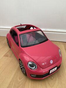 Mattel Barbie Hot Pink Volkwagen Beetle 2013 Collectable