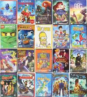 Kids Children's DVD's Disney Dreamworks Cartoons Family Films Movies Free P&P