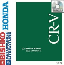 Bishko OEM Digital Repair Maintenance Shop Manual CD for Honda Cr-V 2002 - 2004