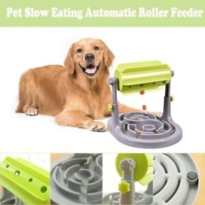 Pet Dog Training Puzzle Interactive Toy Roller Slow Feeder Food Device Dispenser