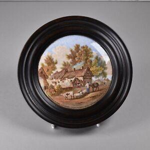 Antique Victorian Staffordshire Pottery, Pratt Pot Lid, Anne Hathaway