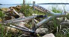 Trek Y Rahmen / frame - silber / silver polished - Alu - full suspension - retro
