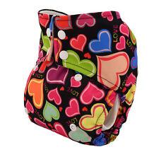 Alva Reusable Washable Baby Cloth Diaper AIO Nappy Love Sewn in Bamboo Insert