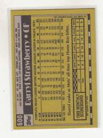 DARRYL STRAWBERRY 1990 Topps #600 Mets Error Variation Oddball Blank Front Mint