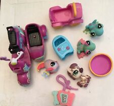 LPS Littlest Pet Shop Frog Zebra Fish Lot of 4 Mixed Years + Scooter & Parts