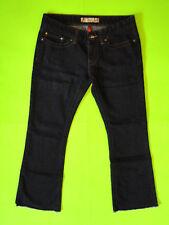 BKE {Size 28 in.} Stretch Sabrina Bootcut Dark Wash Cut Off Jeans NICE!