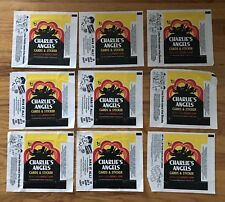 9 CHARLIE'S ANGELS Topps Trading Card set Wrappers 1977 70's tv shows