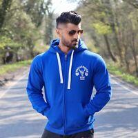 Mens Gym Hoodies Training Top T-shirt Zip Up Hoodies Muscle Works Gym New UK