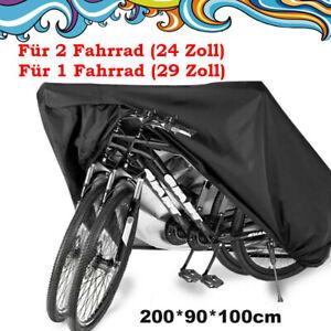 Fahrradgarage Abdeckplane Fahrradabdeckung Wasserdicht Faltbar Für 2 Fahrräder