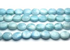 10 pcs LARIMAR 9mm Oval Beads AAA NATURAL /g11