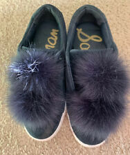 EUC Sam Edelman Womens 6M Leya Inky Navy Blue Suede Fashion Sneakers Shoes