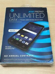 Brand NEW Alcatel Ideal Xcite 5044R 4G LTE GSM (AT&T) Smartphone - Black