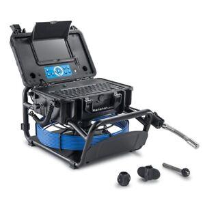 131ft Long 23mm Pipe Inspection Camera w/ Self-Leveling 512Hz Sonde Transmitter