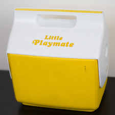 Vintage Yellow And White Little Playmate Cooler Igloo Corp VTG