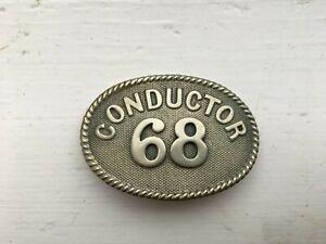 Rare London Electric Railway Conductors Oval Cap Badge