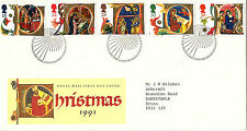 12 NOVEMBER 1991 CHRISTMAS ROYAL MAIL FIRST DAY COVER BETTER - BETHLEHEM SHS