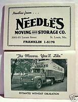 Needles Moving Storage St Louis Old Needle Adv Booklet