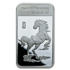 5 oz Year of the Horse Silver Bar