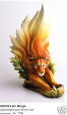 """'FRANZ PORCELAIN' """"LION BEAUTY VASE LION DESIGN""""  FZ382"""