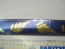 5m bolduc bleu feuille  5cm largeur neuf scrapbooking mercerie fleur lot 5