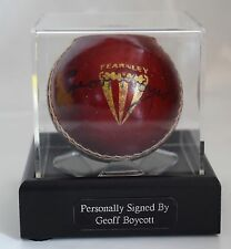 Geoff Boycott Signed Autograph Cricket Ball Display Case England PROOF COA
