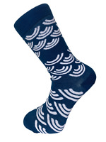 Frederick Thomas navy tie with octopus design FT3268