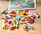 Stylish 10 Pcs Wooden Mini Clip Wood Pegs Kids Crafts Party Favor Supply