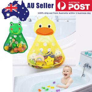 Baby Bath Toy Mesh Bag Storage Bathroom Bathtub Suction Holder Net Organizer AU