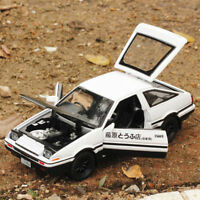 Initial D Toyota TRUENO AE86 1:28 Diecast Model Car Toy Sound&Light Gift