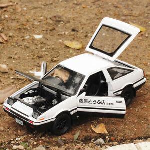 Initial D Toyota TRUENO AE86 1:28 Diecast Model Car Toy Sound&Light Gift