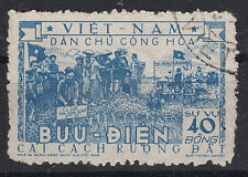 VIETNAM  LAND REFORM 1955 OFFICIAL STAMP SC#O8 USED VF