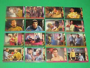 1997 STAR TREK THE ORIGINAL SERIES TOS SEASON 1 CHARACTER LOG INSERT 58 CARD SET