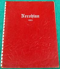 Very Rare 1941 Necohian High School Yearbook New Concord OH John H Glenn