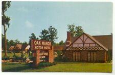 Baton Rouge LA Oak Manor Motor Hotel Restaurant & Lounge Postcard ~ Louisiana