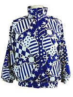 Lavon by Cheerful Corp Womens Large Blue Vintage Bomber Jacket Rare