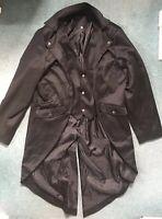 Men's Coat Fashion Steampunk Vintage Tailcoat Jacket Gothic Coat Size L