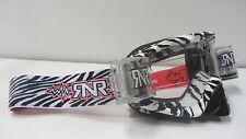 CHRISTMAS MTB Motocross Goggles Wild Black White Rip N Roll Roll Offs RG17