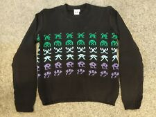 BNWT Space Invaders Retro Game/Gaming/Gamer Knit Jumper/Sweater/Warm Top - Small