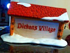 Department 56 porcelain Dickens' Village sign Fs i i