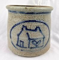 1980's POTTERY ROWE STONEWARE CAMBRIDGE MASS. COBALT House Home
