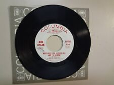 """BOB DYLAN: Most Likely You Go Your Way-Leopard Skin Pill Box Hat-U.S. 7"""" 1966 DJ"""
